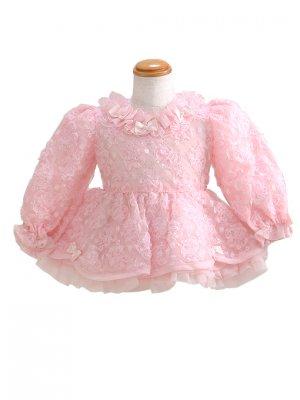 子供ドレス 1~2才 ピンク 長袖 er3025