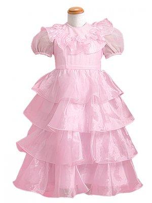 子供ドレス 4~5才 ピンク 長袖 3-4b