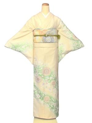 ワンタッチ 訪問着(S 153-158cm)白系