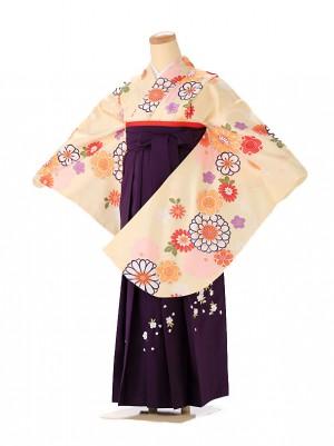 小学生卒業式袴レンタル(女の子)  黄色 9228