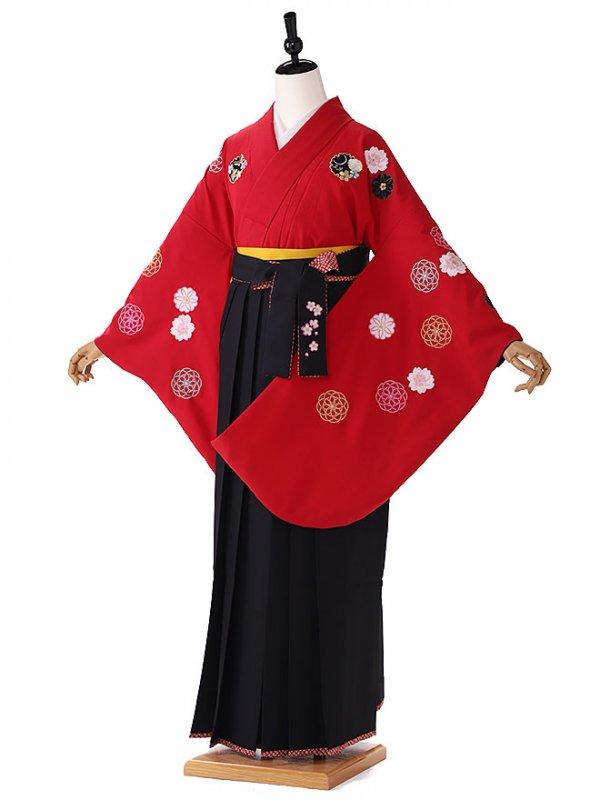 赤 古典 kansai袴 9097