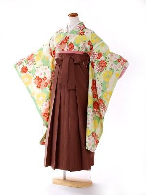 小学生卒業式袴レンタル(女の子)  pomponette 黄緑 FC9157