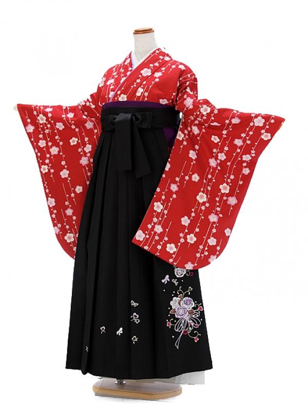 女袴 赤 小桜 9086