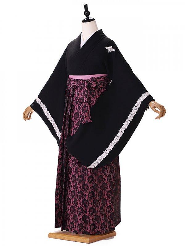 黒 紫袴レース 9093