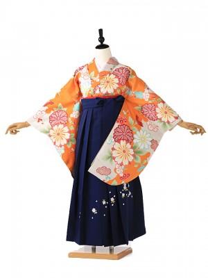 小学生卒業式(女の子) hiromichinakano オレンジ 9293