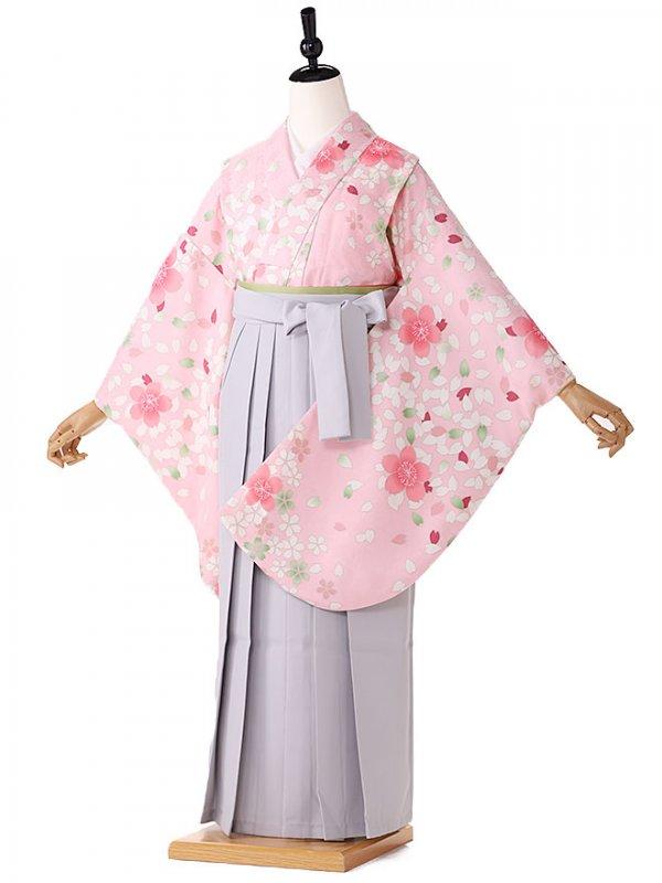 小学生卒業式袴レンタル(女の子) ピンク桜 9237