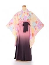 ジュニア 袴 黄色 桜 9192