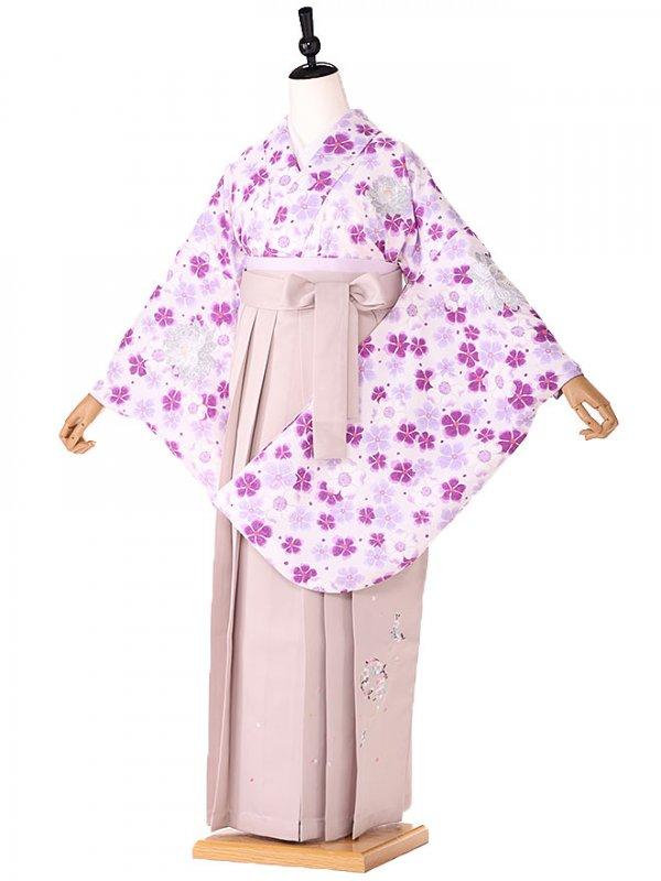 女袴 ニコル 紫 小花 9092