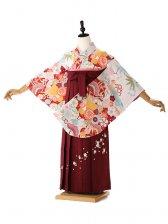 白 古典 ひいな 紫袴 9144