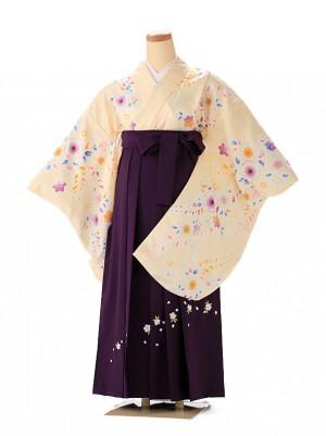 小学生卒業式袴レンタル(女の子) 黄色辻が花 9235