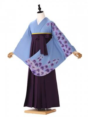 女袴 水色 胡蝶蘭 9068