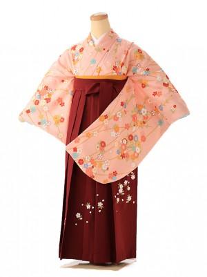 小学生卒業式袴レンタル(女の子) 古典小花 9239