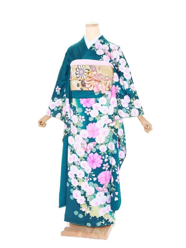 振袖237/緑/おしゃれ