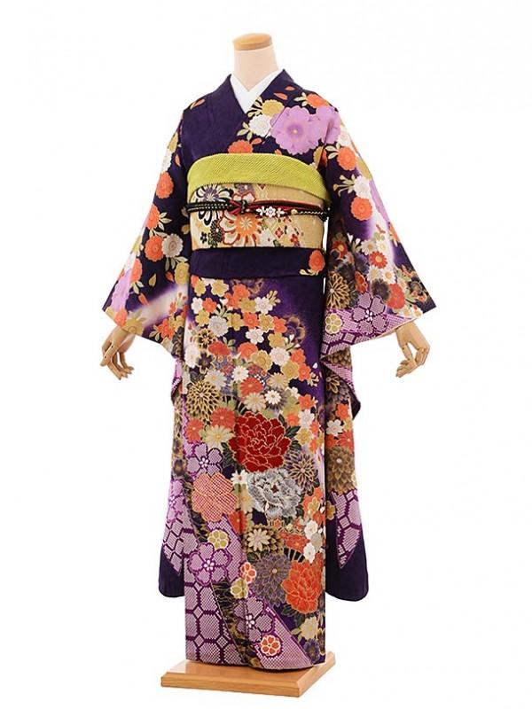 振袖645/桂由美/紫/古典