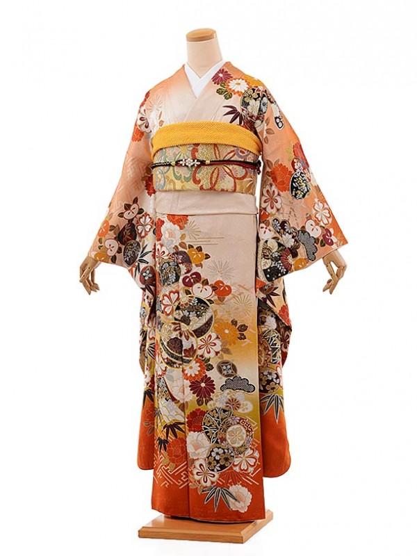 振袖899 舞姫 オレンジベージュまり