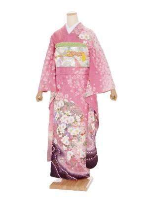 振袖805/ピンク/かわいい