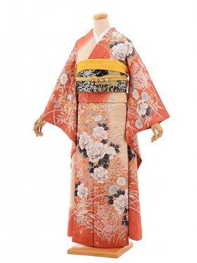 振袖759/オレンジ/上品