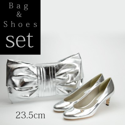 【セット】パーティーバッグ パンプス23.5cm Set002