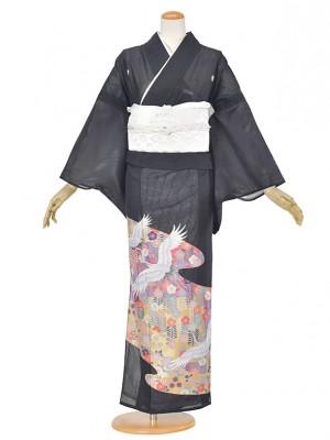 黒留袖(夏)ツル/小花/ゴルード