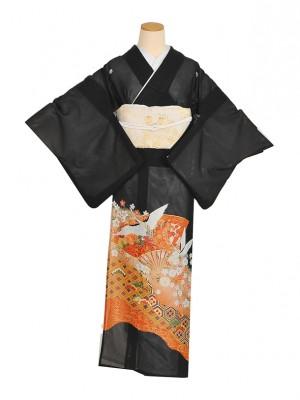 黒留袖(夏)花扇鶴RT001