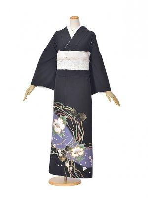 黒留袖(夏)牡丹桜舞うTO538