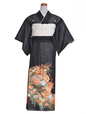 黒留袖(夏)つづみ牡丹RT014