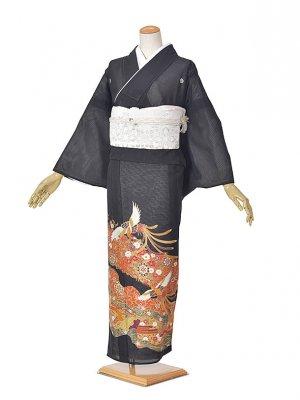黒留袖(夏)赤金/ホウオウ/花