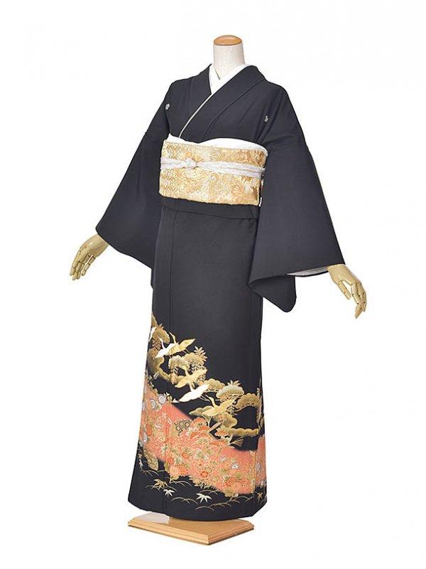 黒留袖(夏)金舞鶴