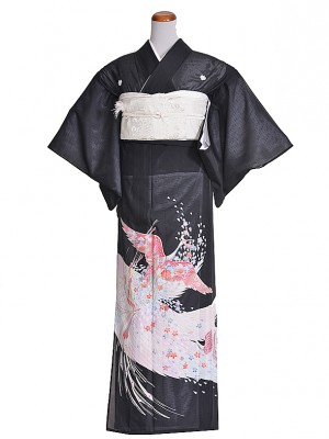 黒留袖(夏)うすピンク/ツル