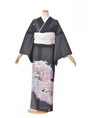黒留袖(夏)花扇