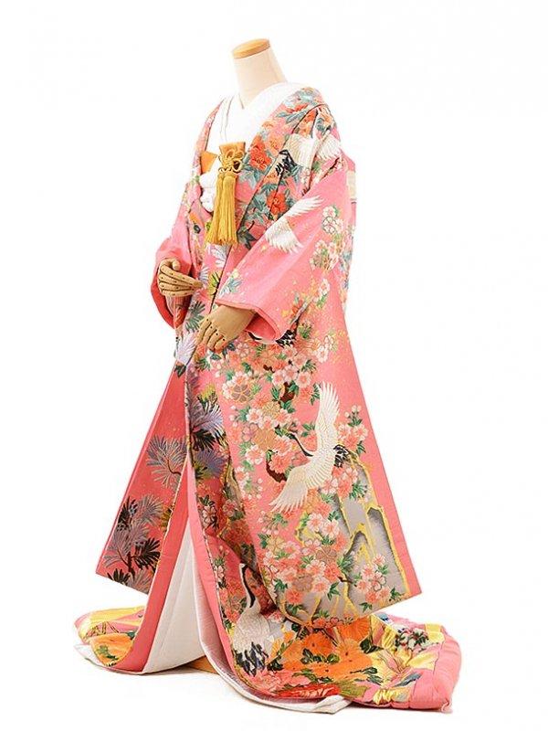 色打掛レンタル956ピンクラメ鶴華の宴