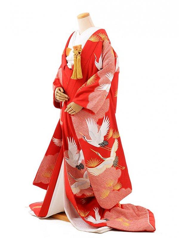 色打掛レンタル224u赤かのこ雲取に松鶴