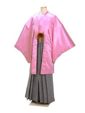 男紋付袴 卒業式 成人式 ピンク 3Lサイズ