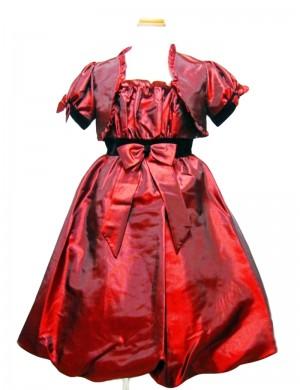 赤130cm/ボレロ付女の子ドレス2901