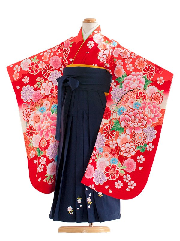 七五三(5女)8005 赤/毬と華/袴