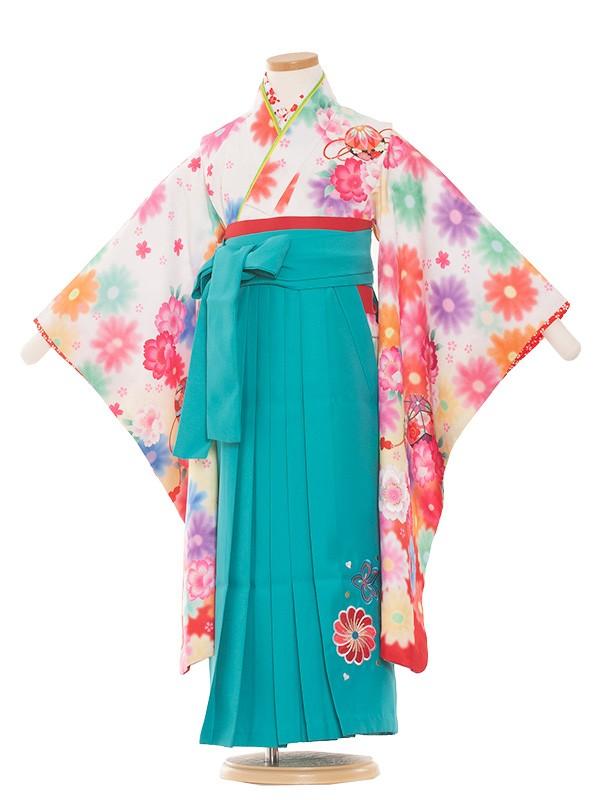 七五三(5女)8003 白赤/毬と華/袴