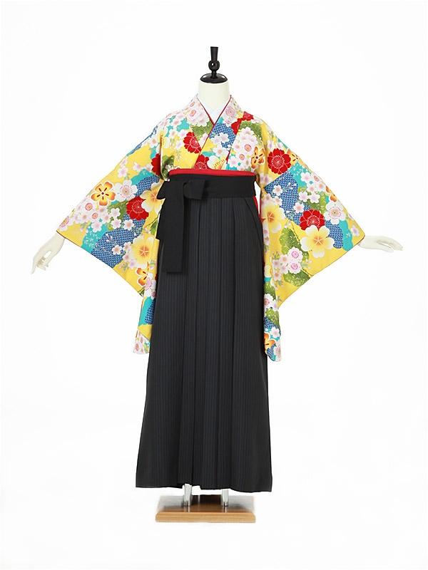女性袴0040 黄色 桜