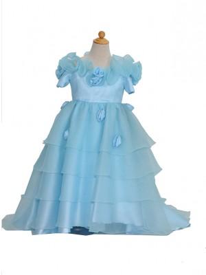 110サイズ キッズドレス KD170ブルーフリル