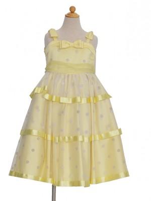110サイズ キッズドレス むらさきドレス