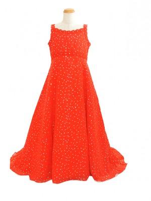 120サイズ 赤ドレスKD158