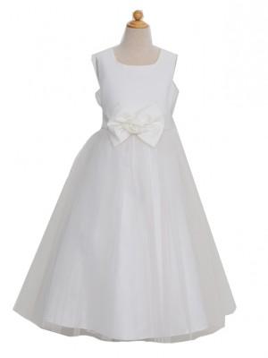 120サイズ キッズドレス ホワイトチュールロングサイズ120