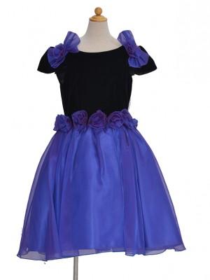 110サイズ キッズドレス KD040パープルオーガンバラ12