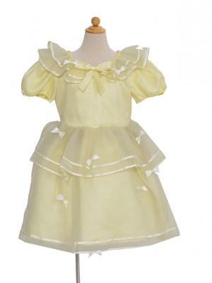 120サイズ キッズドレス KD174 イエローパール
