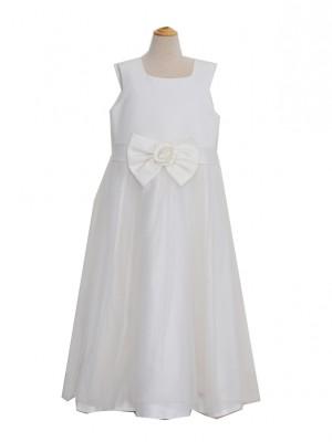 140サイズ キッズドレス KD233 ホワイトチュールロング