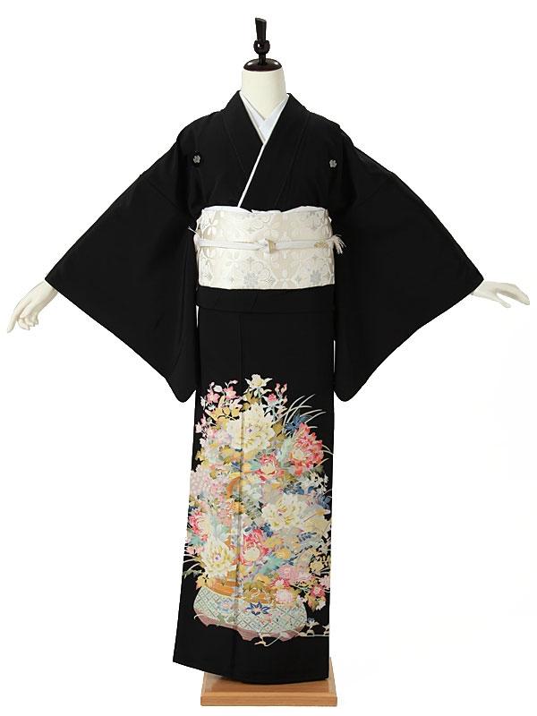 黒留袖0014 四季の花