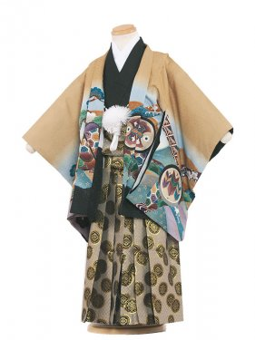 七五三(3男)3018 カラシ/兜と松袴53