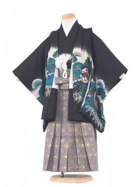 七五三(3男)3006 黒/兜松 袴50