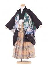 七五三(3男)3093 黒/刺繍兜とのし