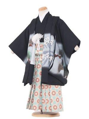 七五三レンタル(3歳男袴)3015 黒色/兜松