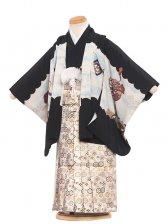 七五三(3男)3041 黒/ブルーの鷹 袴50